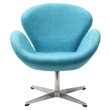 Swan Chair, Baby Blue
