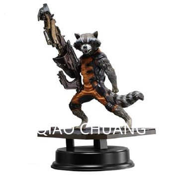 Avengers:Infinity War Guardians Of The Galaxy Sniper Rocket Raccoon The Bounty Hunter PVC Action Figure Model Toy G1174