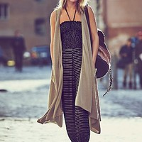 Free People Womens Silk Cashmere Blanket Vest
