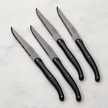 Laguiole ® Black Steak Knives, Set of 4