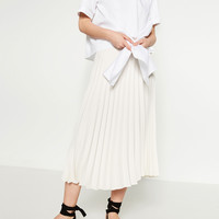 ACCORDION PLEAT SKIRT - Midi-SKIRTS-WOMAN | ZARA United Kingdom