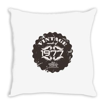 vintage made of 1977 all original parts Throw Pillow