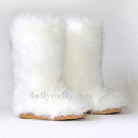 Classic Tall Fluffy Wuffy boots – Snow White