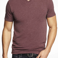 TALL STRETCH COTTON V-NECK TEE from EXPRESS
