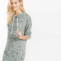 marled hooded sweatshirt dress