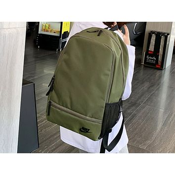 NIKE sells fashionable lady's casual solid color backpacks Army Green