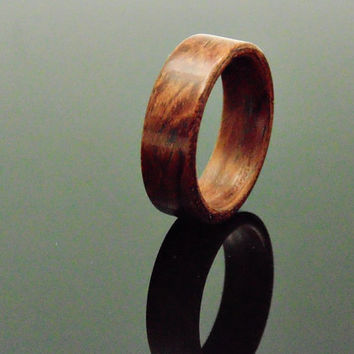 Figured Bubinga wood ring Handcrafted Bentwood rings