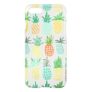 Tropical Pineapple Summer | iPhone 7 Clear Case