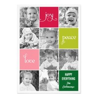 Modern Collage Holiday Photo Cards