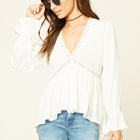 Embroidered Lace Woven Top