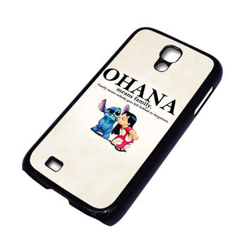 LILO AND STITCH OHANA FAMILY Disney Samsung Galaxy S4 Case Cover