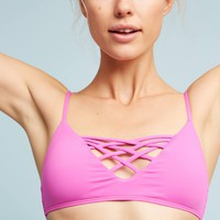 L Space Lattice Swim Top