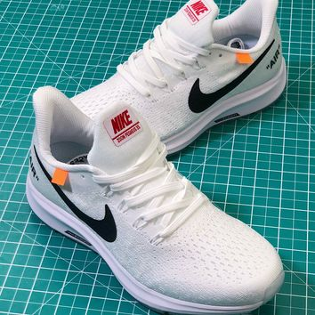 OFF White X Nike Air Zoom Pegasus 35 White Sport Running Shoes - Best Online Sale