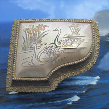 Vintage piano trinket jewelry music box made in Japan