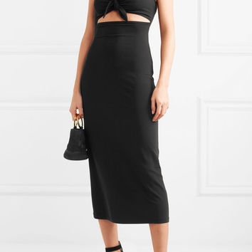 Michael Kors Collection - Cutout stretch-jersey midi dress