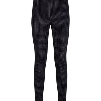 Blue Spot Print Slim Leg Trousers | New Look