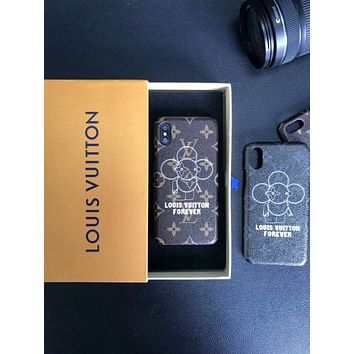 LV Louis Vuitton 2018 Tide brand spoof sun flower phone case cover F-OF-SJK