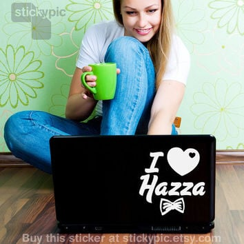 I Heart Hazza One Direction Laptop Decal by stickypic