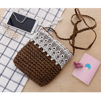 Korean Lace Lovely One Shoulder Casual Messenger Bags [6580667463]