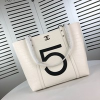 HCXX 19July 020 Crocodile-print cowhide fashion shopping bag single shoulder handbag 34-15-32 white