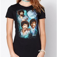 Moon Bob Ross T Shirt - Spencer's