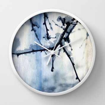 Snow and water Wall Clock by VanessaGF | Society6