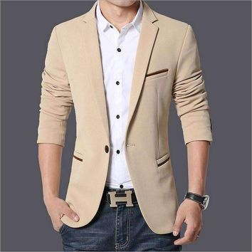 Fall Clothing Mens Suits Fertilizer To Increase Code Small Suit Mens Business Casual Solid Color Blazers