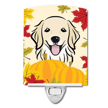Golden Retriever Thanksgiving Ceramic Night Light BB2011CNL