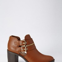Buckle Zipped Booties