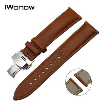Italian Genuine Leather Watchband Quick Release Strap for Casio Seiko Citizen Hamilton Watch Band Wrist Bracelet 18mm 20mm 22mm
