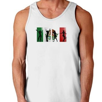 Mexican Flag - Dancing Silhouettes Loose Tank Top  by TooLoud