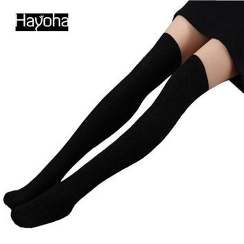 MDIGCI7 2017 Spring and Autumn Over Knee leggings  Fashion Women's High Cotton Sexy 7Color Leggings High Quality