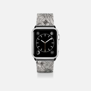 pencil flowers apple watch band Apple Watch Band (38mm) by Sharon Turner | Casetify