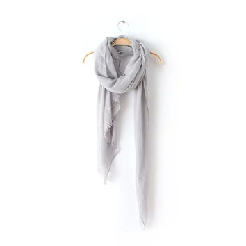 Plain Beads Fringes Scarf