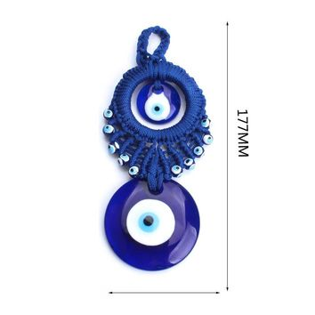 1pc unique  classical style Turkey evil eye blue keychain 3 size evil eye blue glass beads pendant for men women friend gift