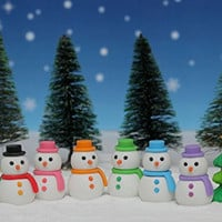Iwako Snowman and Christmas Tree Japanese Erasers (7 pieces) from Japan