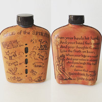 Vintage Tale of the Spirits Leather Flask