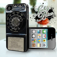 iPhone 4 4s Hard Case - Vintage Rotary Payphone Old Retro - Indian Phone Cover