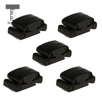 Tooyful Brand New 5Pcs Portable Black Rubber Guitar Pick Holders Fix on Headstock for Guitar Bass Ukulele Mandion Replcements