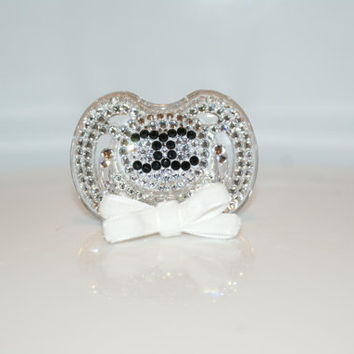 96a1a6e2542b9 Baby Bling Pacifier Brand made with Swarovski Crystal By Crystalolika