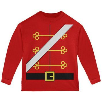 PEAPGQ9 Christmas Toy Soldier Nutcracker Costume Toddler Long Sleeve T Shirt
