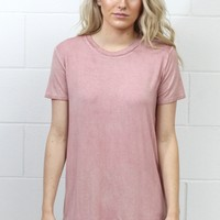 Soft + Basic Short Sleeve Tee {Dusty Pink}