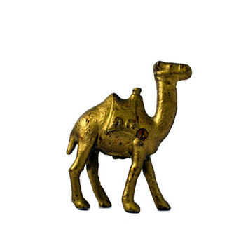 Gold Camel Cast Iron Coin Bank by BananasDesign on Etsy