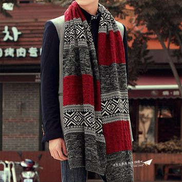 Men's and Women's Long Warm and Cozy Knitted Acrylic Scarf
