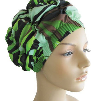 Jane Inc. Luxury Spa Cap - Tropical Green
