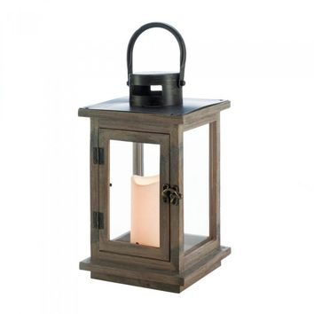 Rustic Lantern with LED Candle