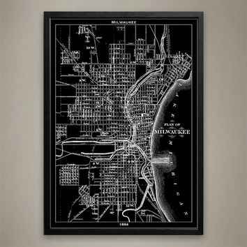 Map Print, Milwaukee
