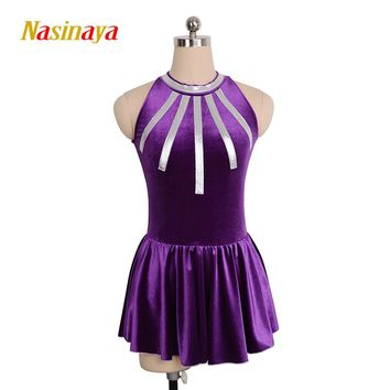 Customized Costume Clothes Ice Skating Figure Skating Dress Rhythmic Gymnastics  Adult Child Girl Show Skirt Performance