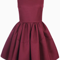 Sleeveless Skater Dress in Red - Choies.com