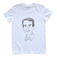 Adult Uni T Shirt Bill Nye the Science Guy Hand-Drawn Face